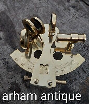 Nautical Solid Brass Working Sextant Marine Navigation Astrolabe Sextant Gift 4