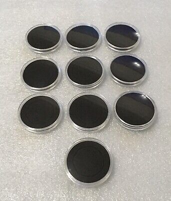 10 X 38mm 50p Coin Capsules With Foam Insert High Quality Plastic Uk Seller 2