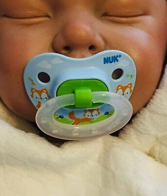 Reborn Doll Putty NUK Pacifier No Magnet Needed Boy Girl 11