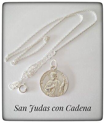 MEDALLA  SAN JUDAS TADEO SILVER 925 ml PLATA SAN JUDAS TADEO MEDALLA SAN JUDAS