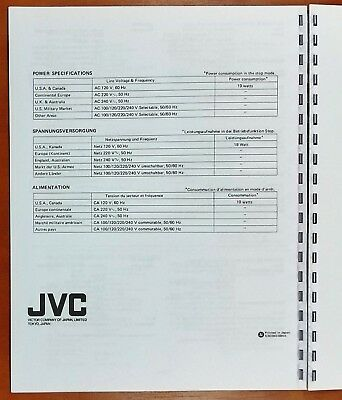 jvc owners manual