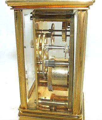 ENGLISH St James LONDON Brass Carriage Mantel Clock 11 Jewels : Working (59) 10
