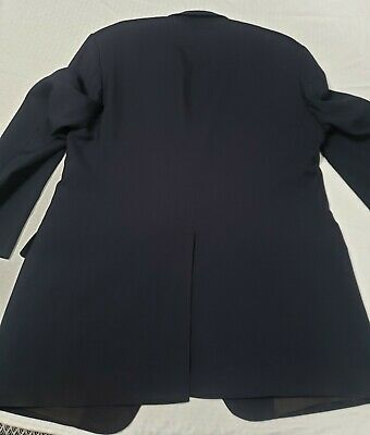 Brooks Brothers 346 navy Wool 3-Button front + sleeve Suit jacket sport coat 41 5