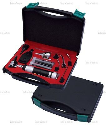 BLACK Veterinary Otoscope Ophthalmoscope Diagnostic Kit ENT Surgical Instruments 11
