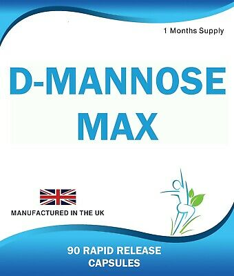 D Mannose 90 Capsules Supports Healthy Urinary Tract Cystitis Relief UTI Bladder 3