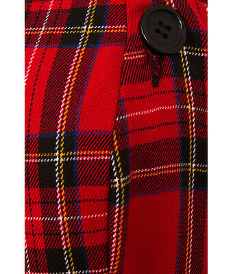 HELL BUNNY IRVINE VINTAGE style RED TARTAN check PINAFORE DRESS XS-4XL