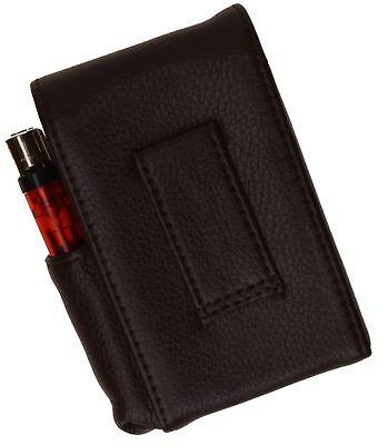 Black CIGARETTE HARD CASE Leather Lighter 100s Regular Holder USA Seller 6