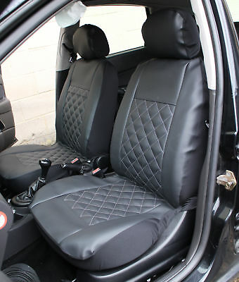 NISSAN E-NV200 Front Pair of Luxury KNIGHTSBRIDGE LEATHER LOOK Car Seat Covers