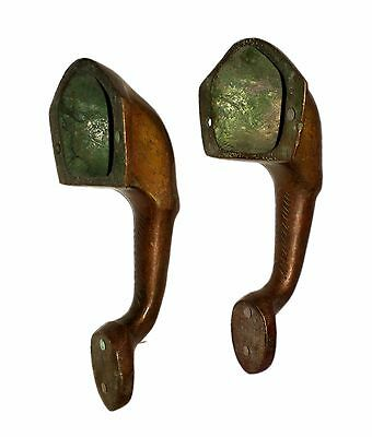 A Pair of Lovely brass made Elephant Face Shape DOOR HANDLES Engraved from INDIA 3