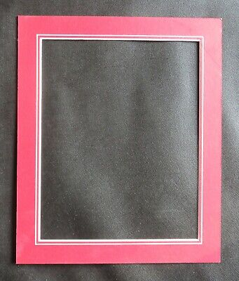 """V Groove Picture Mounts 12"""" x 10"""" ideal for photos size 10"""" x 8"""" Various Colours 3"""