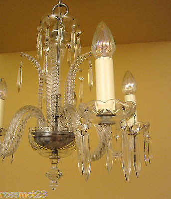 Vintage Lighting antique 1930s Art Deco crystal chandelier   High Quality 8