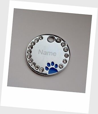 Personalised ENGRAVING Dog ID / Cat ID Name Bling Tag Puppy Pet ID Tags 4