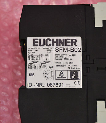 087891 Euchner SFM-B02 ENHANCED Sicherheitsmonitor Typ