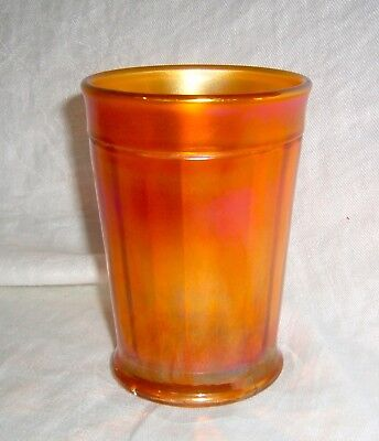 Antique Marigold Carnival Glass Northwood Pretty Panels Decorated Water Tumbler 4