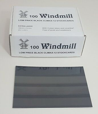 Windmill stockcards for stamps - Retail Boxed - for approvals etc 2 or 3 strips 4