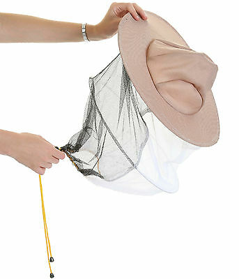 2 x Beekeeping LATTE BEE HAT AND VEILS - Double hoop and toggle 4