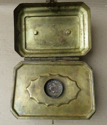 1900 Brass Box Jali Work part offering Betel Pandaan Islamic dominate culture 7