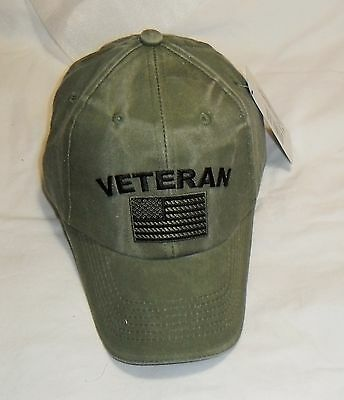 eba58595 ... US ARMY Veteran - U.S. Army with Flag OD Green Baseball Cap Hat 2