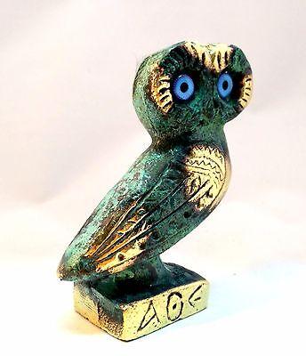 Ancient Greek Bronze Museum Replica Of Owl Symbol Of Athena Goddess Of Wisdom 6