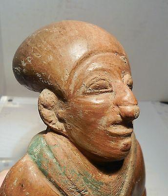 Pre Columbian Ecuador Female Fragment Authentic Jama - Coaque Pottery 5