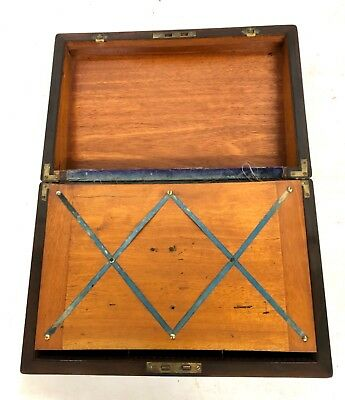 Antique Rosewood & Mother of Pearl Inlaid Writing Box / Slope for Restoration 10