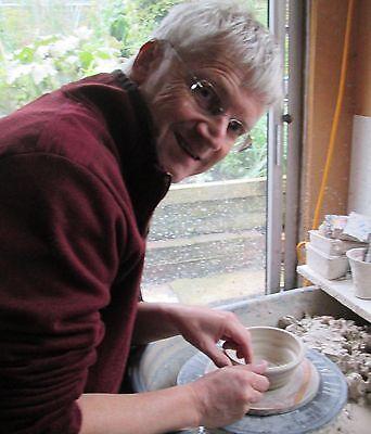 Shaving Scuttle Bowl Medium #1 Teak Hand Made/Crafted - Steve Woodhead Ceramics 3