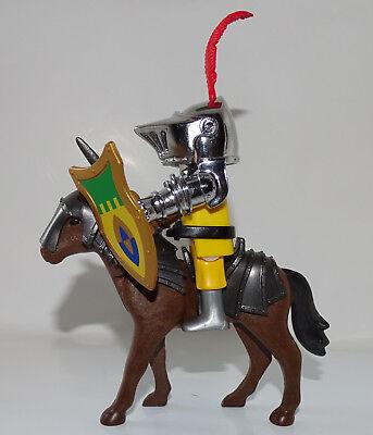 Playmobil chevalier argente avec cheval armes moyen - Chateau chevalier playmobil ...