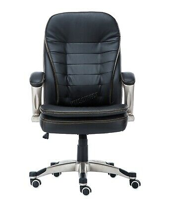 WestWood Executive Office Chair – Leather Swivel Computer High Back OC01 Black 2