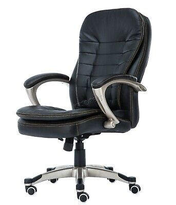 WestWood Executive Office Chair – Leather Swivel Computer High Back OC01 Black 8