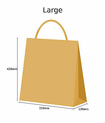 Brown Twist Handle Paper Party and Gift Carrier Bag / Bags With Twisted Handles 6