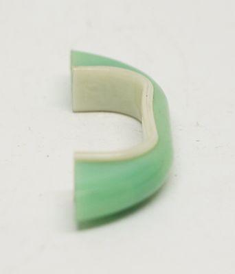 Curved Light Green Vintage Plastic Bridge Pull 4