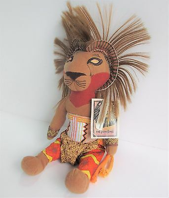 "Disney Store Simba 13"" approx soft toy plush The Lion King Musical Collection"