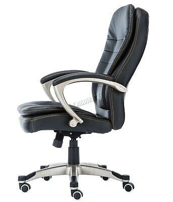 WestWood Executive Office Chair – Leather Swivel Computer High Back OC01 Black 7