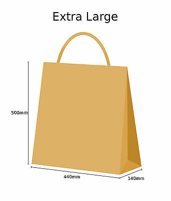 Brown Twist Handle Paper Party and Gift Carrier Bag / Bags With Twisted Handles 7