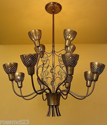 Vintage Lighting 1950s Mid Century high quality chandelier 2