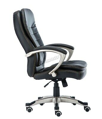 WestWood Executive Office Chair – Leather Swivel Computer High Back OC01 Black 3