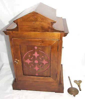 # Antique LENZKIRCH Walnut TING TANG Bracket Mantel Clock : SERVICED & WORKING 10