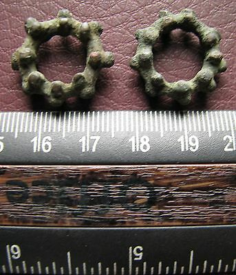 Authentic Ancient Lake Ladoga VIKING Artifact > Bronze Temporal Rings AA30 2