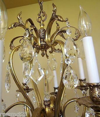 Vintage Lighting glamorous 1970s crystal chandelier by Lightolier 7