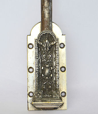 French Antique Rare & Large Door Catch Bolt - Gothic Chimera Bronze Lock 2