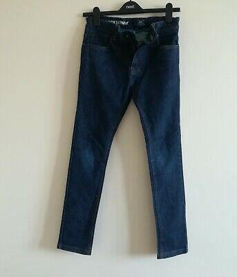 Boy's Next Super Skinny Indigo Blue Jeans Size 12 years 3