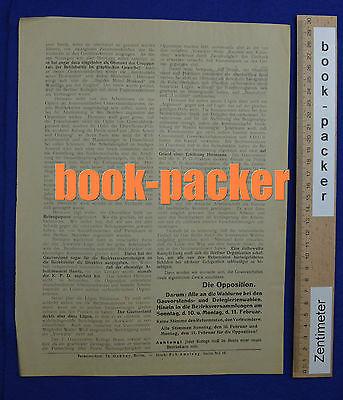 Original Flugblatt aus dem Arbeitskampf im graphischen Gewerbe Berlin 1923 [#13]