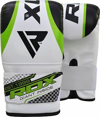 RDX Leather Punching Bag Stand Unfilled Training Mitts MMA Gloves Chains Green 3