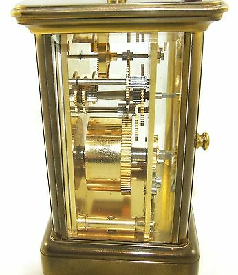 MATTHEW NORMAN LONDON SWISS MADE Brass Carriage Clock with Key : Working (49) 11