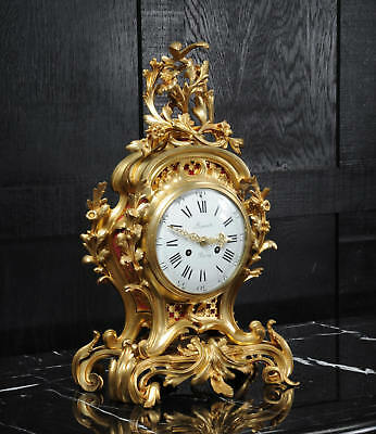 Fine Ormolu Rococo Antique French Clock By Henry Lepaute C1870 Superb Condition 6