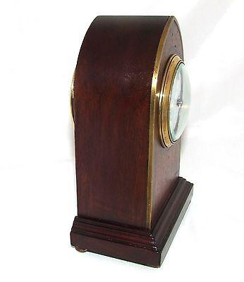 Antique Brass Inlaid Mahogany Miniature Bracket Mantel Clock CLEANED & SERVICED 8