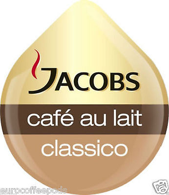 Tassimo Jacobs Cafe Au Lait Coffee 3 Pack, 48 T-Discs / Drinks 3