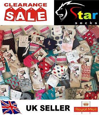 60 pairs luxury women/'s ladies design coloured socks cotton UK size 4-6 MNKHMF
