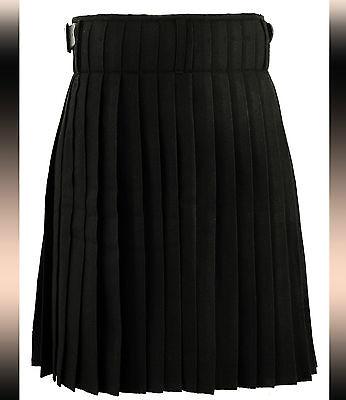 Scottish Mens Kilt Black Tartan Highland Dress Heritage