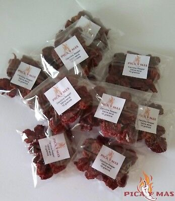 Carolina Reaper Dried Chilli Pods - Worlds Hottest Chilli Pepper - 10g 5